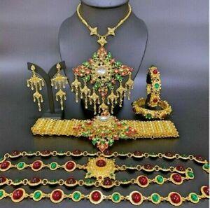 1ฺ Beauty Set of Thai Accessories Jewelry Occasional Wedding Stage Show Parade