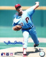 STEVE CARLTON SIGNED AUTOGRAPHED 8x10 PHOTO PHILADELPHIA PHILLIES BECKETT BAS