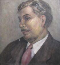 "F.L. CRAUFORD BRITISH OIL ""SELF PORTRAIT OF ARTIST"" 1950"