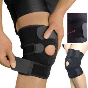 2019 Black Neoprene Adjustable Open Knee Patella Tendon Support Brace Sleeve