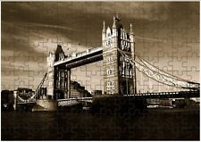 London Bridge A4 Rompecabezas Cumpleaños Regalo de Navidad (personalizable)