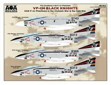 AOA decals 1/48 VF-154 BLACK KNIGHTS USN F-4J Phantoms in Vietnam War & Cold War