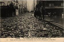 CPA PARIS Paves de bois rues Jacob et Bonaparte INONDATIONS 1910 (605534)