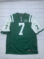 Nike New York Jets Geno Smith #7 NFL Football Jersey Size XL On Filed Game Green
