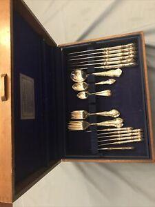 Gorham sterling English Hardin silverware Set Of 50