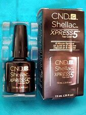 CND Shellac Xpress5 Top Coat LED Gel Nail Polish Express 5 MIN REMOVAL .25oz NEW
