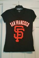 San Francisco Giants 5th & Ocean Women's Shimmer Top T-Shirt 100% Cotton Size S