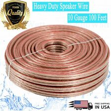 NEW 10 GA Gauge 100 Feet ft Heavy Duty Marine Car Home Audio Cable Speaker Wire