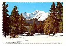 Ten Mile Peaks Postcard Colorado Near Breckenridge Covered With Snow Trees #2