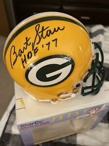 Bart Starr SIGNED Autographed Green Bay Packers Sharco USA Mini Helmet Rare 1989