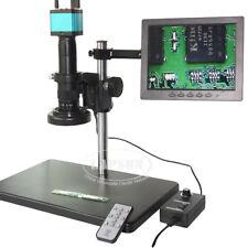 "14MP 1080P HDMI USB Digit Industrial Microscope Camera 8"" Monitor 100X 180X Lens"
