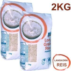 2 x 1 Kg Premium Reis extralanges Korn Langkornreis rice extra long grain