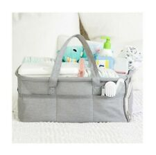 Baby Diaper Caddy Large Organizer Bag for Car Bedroom Travel Shower Gift New
