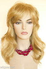 Premium Quality Long Soft Layered Wavy Straight Blonde Brunette Red Wig Wigs