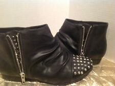 Black Studded Ankle Boots Size 7 Rouge Helium Black Boots
