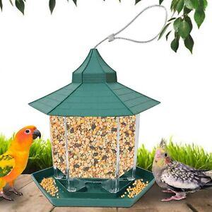 Wild Bird Feeders Vintage Waterproof Hanging Seed Food Outdoor House Type