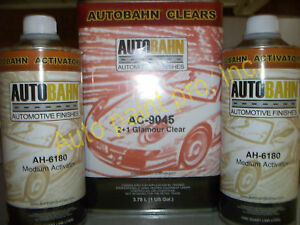 Glamour Clear Coat Kit 6 Quarts High Gloss AutoBahn Urethane AC9045 Auto Paint