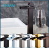 Bathroom Basin Sink Brass Mixer Tap Vanity Faucet Single Handle with Wide Spout