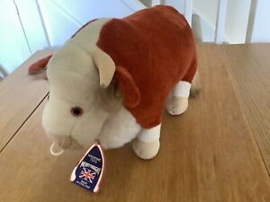 Vintage Merrythought Toy Hereford Bull