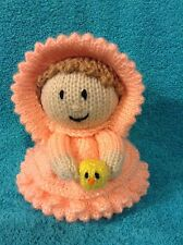 KNITTING PATTERN - Easter parade girl with chocolate orange cover or 15 cms toy