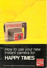 1970s KODAK HAPPY TIMES COCA-COLA INSTANT CAMERA OWNERS INSTRUCTION MANUAL -COKE