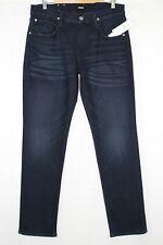New Hudson Jeans Men's Blake Slim Straight 34 x 34 Dark Blue NM275ZZGF #BETB