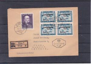 Ö 1954 Doppel FDC auf Reco Brief ECHT gelaufen in die Schweiz - Ankunftstempel
