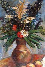 Ölgemälde, Henrique de Arnoldi (1905-1979), Stillleben / Blaue Blumen in Vase