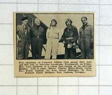 1957 Cornwall Gliding Club Members Charles Milner Haigh, Frank Lipman, Alexis