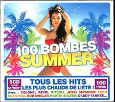 100 BOMBES SUMMER - 5 CD COMPILATION NEUF ET SOUS CELLO