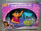 DORA  FRIENDS MAGICAL SMILE SET TOOTHBRUSH WITH HOLDER  RINSE CUP - NEW