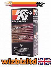K&n Filtro de Aire para Motocicleta Limpiador y Re-Charger Kit Mantenimiento (