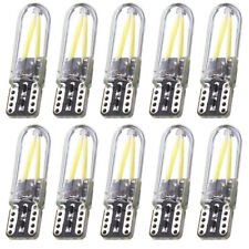 10x T10 194 168 W5W COB LED CANBUS Silica Bright Glass License Light White Bulbs
