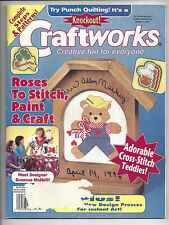 Craftworks Magazine Mar 1996 Teddies Cross Stitch Roses St Patricks Day Patterns