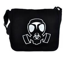 Gas Mask Cyber Goth Industrial School Messenger Bag Walking Dead Evil Sling Bag