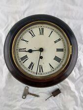 More details for antique c1920s wooden cased school clock h. williamson/empire movement