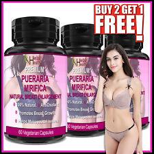 PUERARIA MIRIFICA Capsules 100% Organic Breast Enlargement Bust Firm Antioxidant