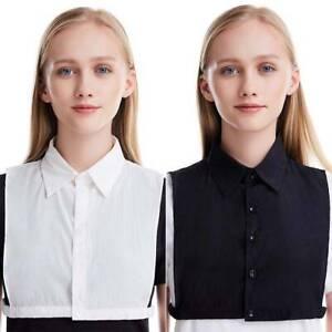 Womens False Collar Dickey False Collar Half Shirt Blouse Detachable Bib Collar