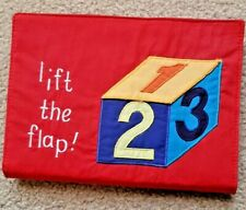 Lift the Flap 1 - 2 - 3 Cloth Book 8.5 x 6.25 inches - New - Free Shipping