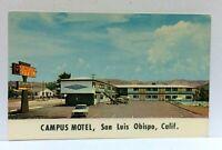San Luis Obispo California Campus Motel Vintage Postcard