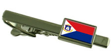 Sint Maarten Tie Clip Bar With Engraved Personalised Message Box