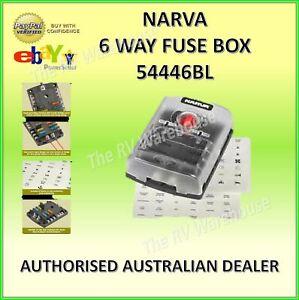 Narva 54446 6 Way 12 VOLT Fuse Box BOAT CARAVAN 12V CAMPER VEHICLE JAYCO PARTS