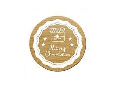 "Woodies Stempel / Motivstempel ""Merry Christmas"" ø 30 mm"