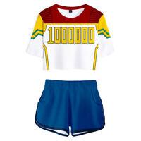 My Hero Academia Boku no Hero Million Cosplay Costume Sportwear Shirt Shorts
