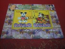 MALAWI: 2008 MICKEY MOUSE ANNIVERSARY 2 MINISHEET UNMOUNTED USED MINIATURE SHEET