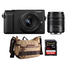 Panasonic DMC-GX85WK 4K Mirrorless Camera with 12-32mm and 45-150mm Lens Bundle