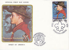 1979 LIBERIA SCOUTING / NORMAN ROCKWELL COMMEM.FDC COVER - SPIRIT OF AMERICA