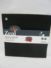 CKS Zeal Heat Resistant Silicone Kitchen Hot Mat Square Trivet J310 Black 22cm