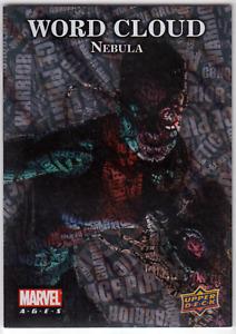 NEBULA Marvel Ages 2020 Word Cloud FOIL Upper Deck Trading Card WC-31 Nebula