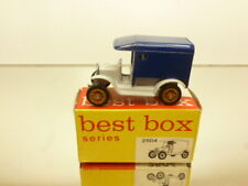 BESTBOX 2504 FORD model T 1919 DELIVERY VAN - BLUE L5.5cm - VERY GOOD IN BOX